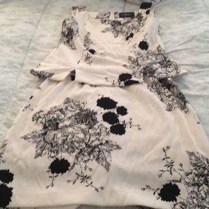 John Roberts black and white skirt set size 10